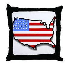 USA2 Throw Pillow