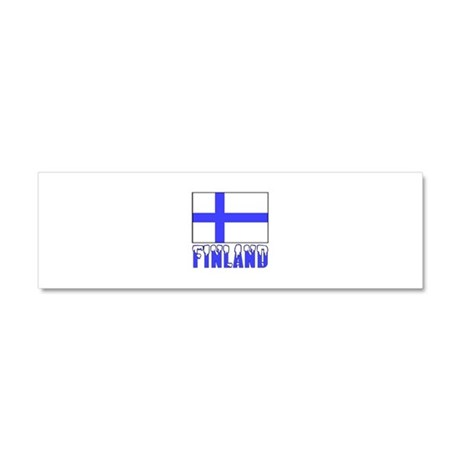 Finland Flag Name Snow Car Magnet 10 x 3