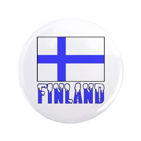 """Finland Flag Name Snow 3.5"""" Button (100 pack)"""