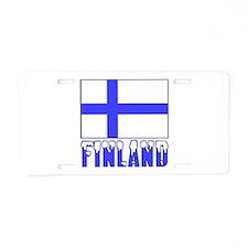 Finland Flag Name Snow Aluminum License Plate