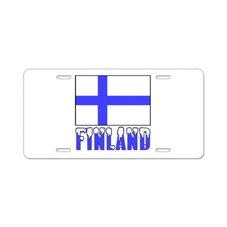 Finland Flag Name Snow Aluminum License Plate