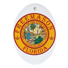 Florida Freemasons Ornament (Oval)