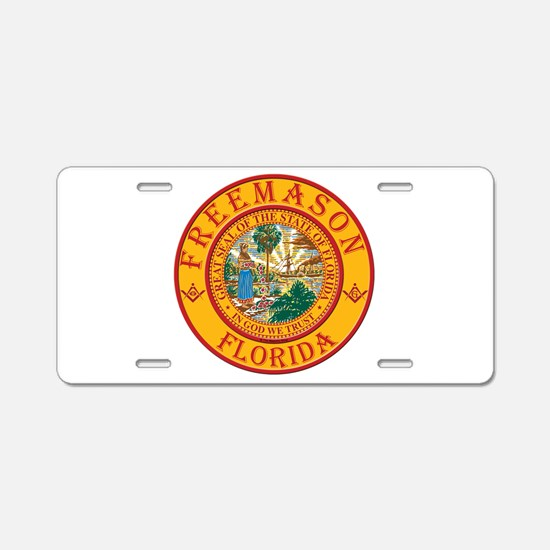 Florida Freemasons Aluminum License Plate