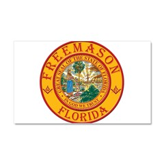 Florida Freemasons Car Magnet 20 x 12