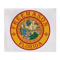 Florida Freemasons Throw Blanket