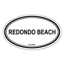 Redondo Beach (California) Oval Decal