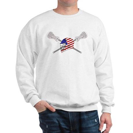 American Flag Lacrosse Helmet Sweatshirt