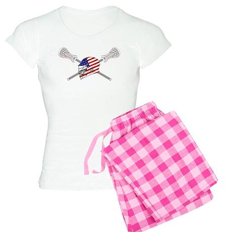 American Flag Lacrosse Helmet Women's Light Pajama