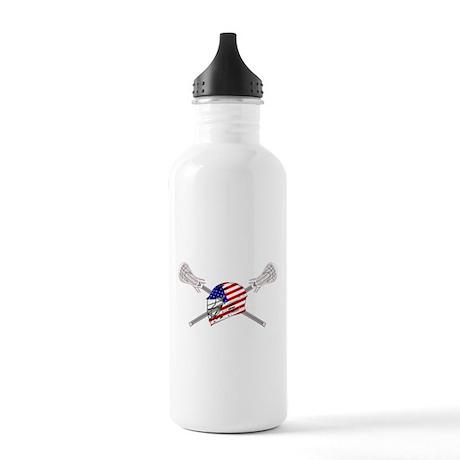 American Flag Lacrosse Helmet Stainless Water Bott