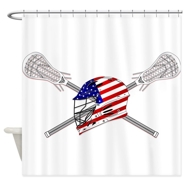 american flag lacrosse helmet shower curtain by ddbaz With kitchen colors with white cabinets with lacrosse helmet stickers