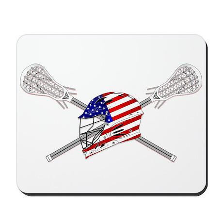 American Flag Lacrosse Helmet Mousepad