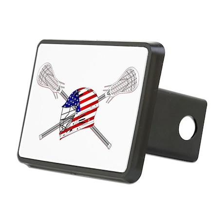 American Flag Lacrosse Helmet Rectangular Hitch Co