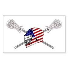 American Flag Lacrosse Helmet Decal