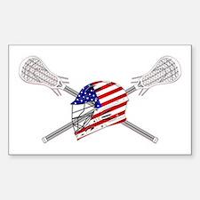 American Flag Lacrosse Helmet Decal