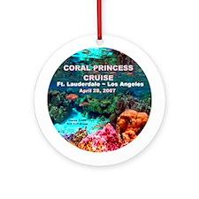 Coral Princess FLL-LA 2007 Ornament (Round)