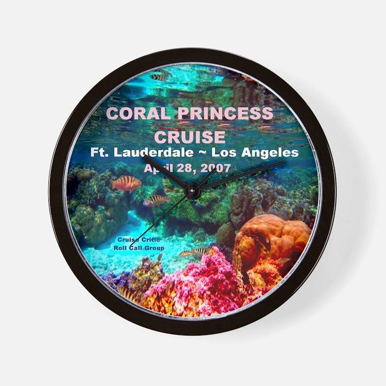 Coral Princess FLL-LA 2007 Wall Clock