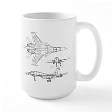 SU-34 3 View Mug