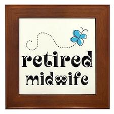 Retired Midwife Framed Tile