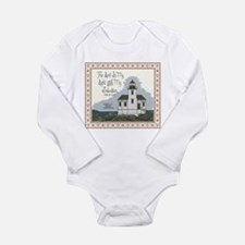 Coquille River Lighthouse Long Sleeve Infant Bodys