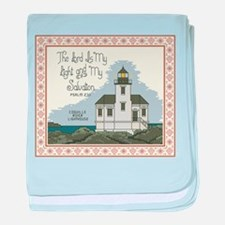 Coquille River Lighthouse baby blanket