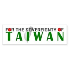For the Sovereignty of Taiwan Bumper Sticker