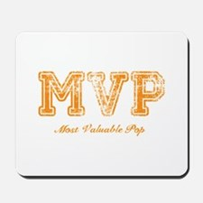 Most Valuable Pop – MVP – Burnt Orange - Mousepad