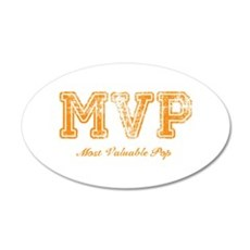 Most Valuable Pop – MVP – Burnt Orange - Wall Decal