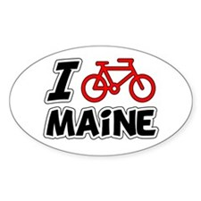 I Love Cycling Maine Decal