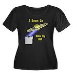 Dob Fan Women's Plus Size Scoop Neck Dark T-Shirt