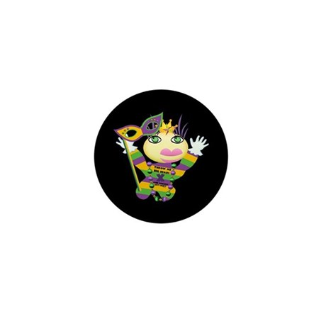 Mardi Gras Mini Button (100 pack)