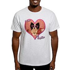 I Love My Papillon T-Shirt
