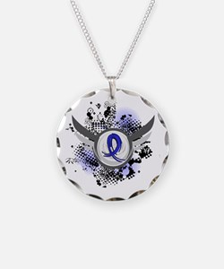 Wings and Ribbon Arthritis Necklace Circle Charm