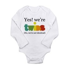 YesWereTwinsFraternal Body Suit