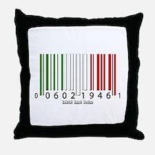 Barcode Italian Flag Throw Pillow