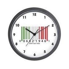 Barcode Italian Flag Wall Clock