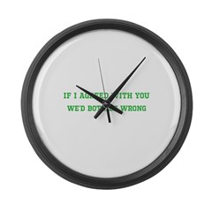 Agreed with you Large Wall Clock