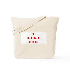 Cute I like pie Tote Bag