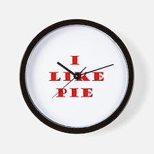 Cute I like pie Wall Clock