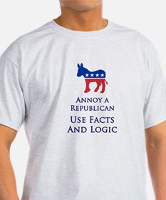 Annoy A Republican Use Facts T-Shirt