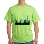 London landmarks Green T-Shirt