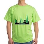 London landmarks Green T-Shirt