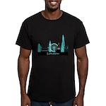 London landmarks Men's Fitted T-Shirt (dark)