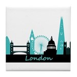 London landmarks Tile Coaster