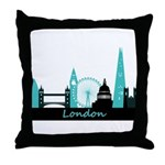 London landmarks Throw Pillow