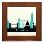 London landmarks Framed Tile
