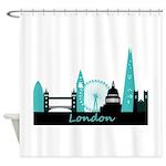 London landmarks Shower Curtain
