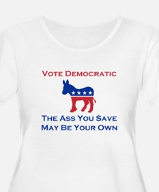 The Ass You Save Plus Size Scoop Neck T-Shirt