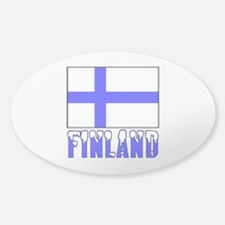 Flag 10x10 Sample Sticker (Oval)