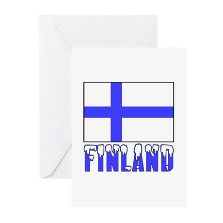 Flag 10x10 Sample Greeting Cards (Pk of 20)