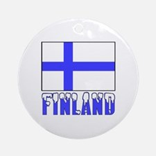 Flag 10x10 Sample Ornament (Round)